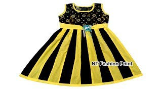 Lengthwise Line Baby Dress Designs Cutting and Stitching | NT Fashion Point