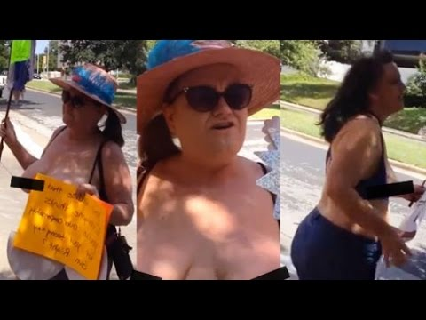 government women protest open carry guns showing breasts texas