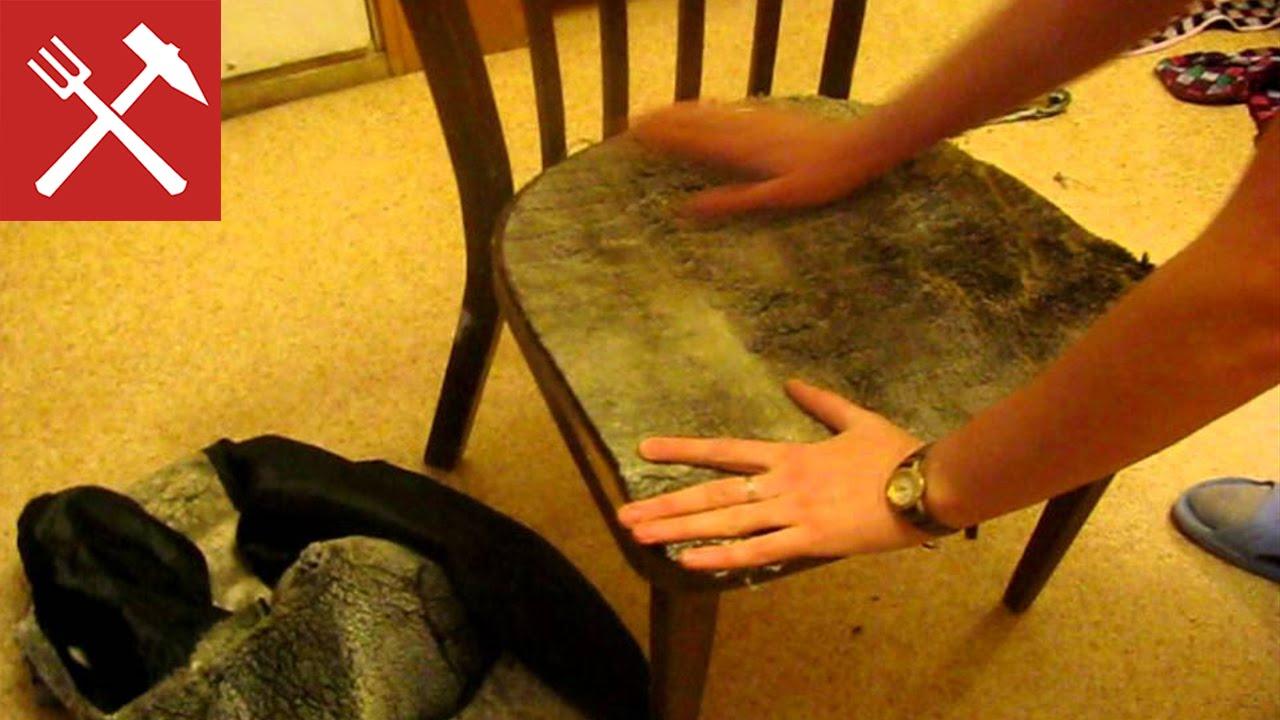 Как обновить обивку стула своими руками 89