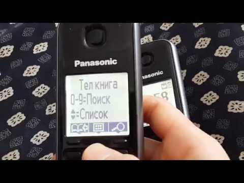 Panasonic телефон.Копирование номера телефонов на второй телефон