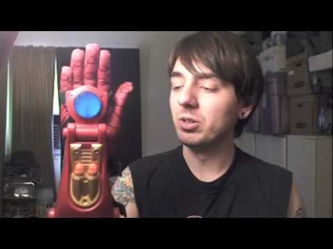 Iron Man 2 Movie 3 in 1 Repulsor Glove & Arc Chest Light Role Play Toy Review