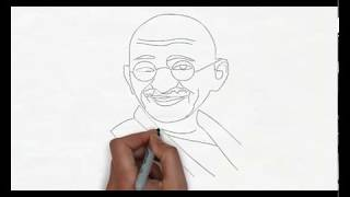 MAHATMA GANDHI Easy Drawing of Mahatma gandhi