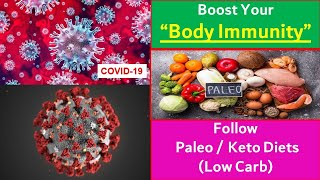 Boost Immunity against Viruses by adopting Paleo / Keto Diets (Low Carb)