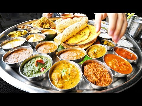 Enter CURRY HEAVEN - Mumbai's BIGGEST Thali (38 Items) + BEST Indian Street Food in Mumbai, India!