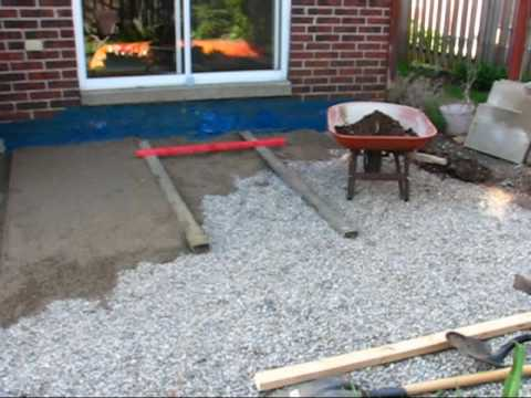 Patio Phase 2 Second Layer Of Sand And Stone Chips YouTube