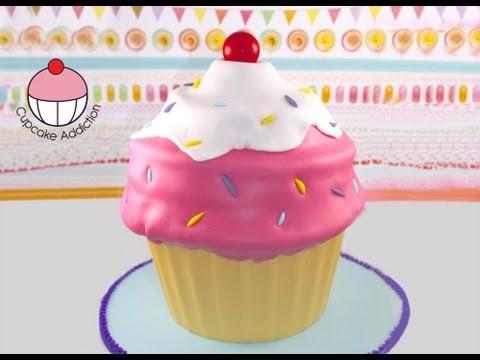 Giant Cupcake - Classic Ice-Cream Swirl Style!