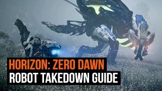 Horizon Zero Dawn - Every Robot Dinosaur and how to take them down!