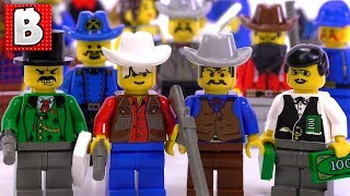 Every Cowboy Minifigure Ever Made!!! + Bandits & Cavalry! All Pioneer Figs from 1996 Western Theme