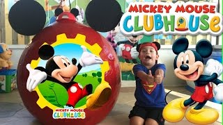 MICKEY MOUSE CLUB HOUSE SURPRISE EGG 4 and mickey toys + kids video and open toys