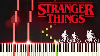 Piano Tutorial 34 Stranger Things 34 Main Theme Easy Piano Synthesia Extended Version Netflix Ost