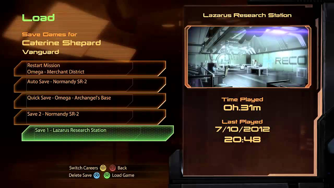 Mass Effect Xbox Controls Mass Effect 2 pc Using Xbox