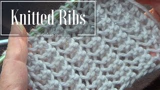 Rib Stitch | Knitted Rib Stitch | Super Easy and Fast