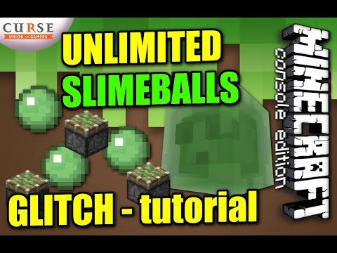 MINECRAFT - PS4 - UNLIMITED SLIMEBALLS GLITCH - TUTORIAL ( PS3 / XBOX ) TU19 UPDATE