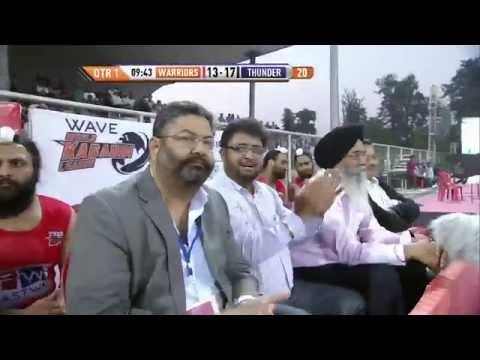 World Kabaddi League, Day 40: Khalsa Warriors Vs. Punjab Thunder