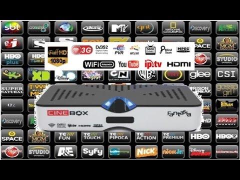 Receptor de Canais Cinebox Fantasia Duo Full Hd. IPTV. 3d. Digital. Iks. Sks / Apresentação