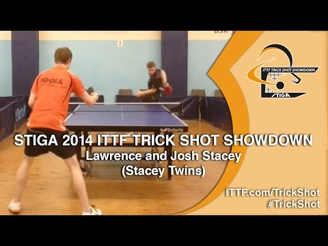 Lawrence and Josh Stacey - STIGA 2014 ITTF TrickShot Showdown