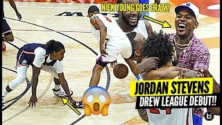 D2 BASKETBALL PLAYER CRAZY OT DREW LEAGUE DEBUT!! JORDAN STEVENS GOT NICK YOUNG GOING CRAZY!!