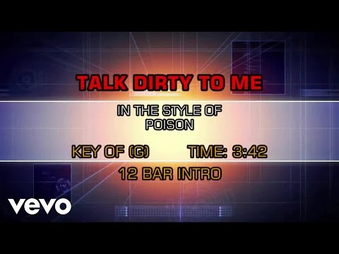 Poison - Talk Dirty To Me (Karaoke)