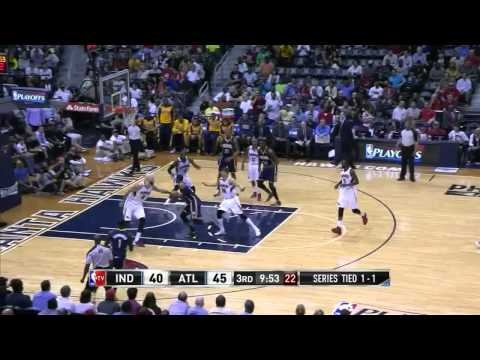 NBA, playoff 2014, Pacers vs. Hawks, Round 1, Game 3, Move 26, Paul George, layup