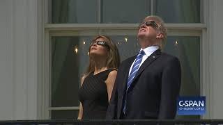 President Trump observes Solar Eclipse (C-SPAN)