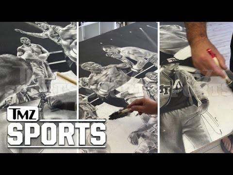 Floyd Mayweather -- Still Flexing over De La Hoya Victory ... With $100k Painting