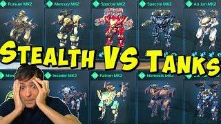 Full Stealth VS Full Tank Hangar - Whats Better? War Robots Mk2 Live WR