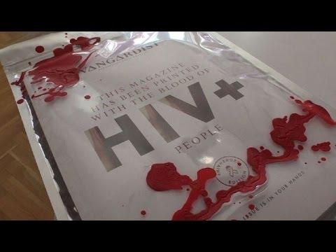 Imprimieron una revista con sangre HIV positivo