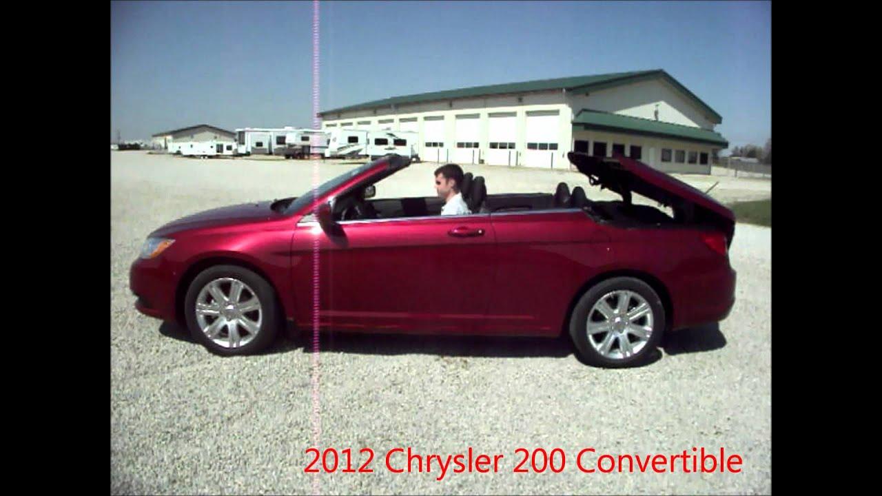 2012 chrysler 200 red convertible for sale by dealer near dayton ohio youtube. Black Bedroom Furniture Sets. Home Design Ideas