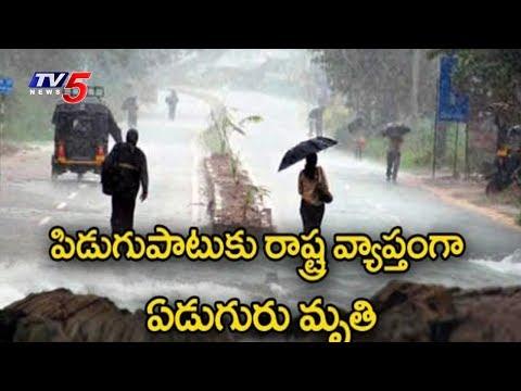 పిడుగుపాటుకు రాష్ట్ర వ్యాప్తంగా ఏడుగురు మృతి | Heavy Rains Lashes Andhra Pradesh | TV5 News