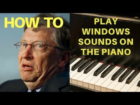 How To Play Windows Sounds on the Piano