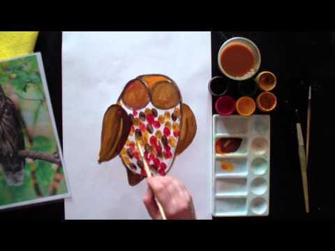 Видеоурок рисования для детей - видео