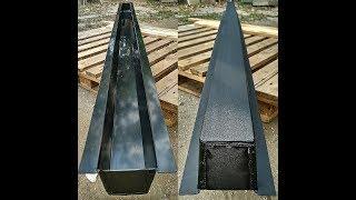 Недорогая форма для литья бетонных (виноградных) столбов. Собственное производство - просто.