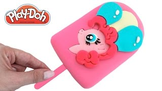 Play Doh How to Make an MLP Pinkie Pie Ice Cream Popsicle DIY RainbowLearning