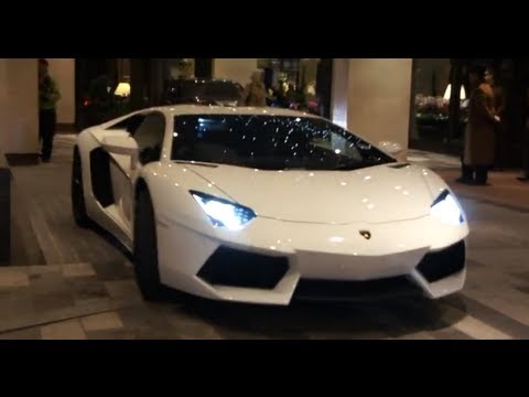 White Lamborghini Aventador Youtube
