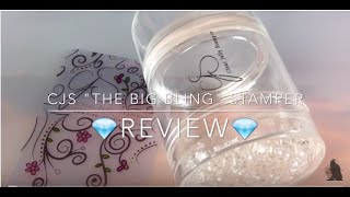 "New ""CJS"" *The Big Bling* stamper from Clear Jelly Stamper - Review - How To"