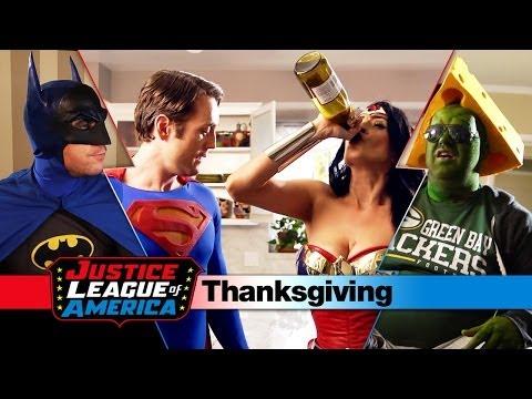 An Awkward Justice League Thanksgiving video