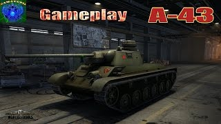 World of Tanks | А-43 Gameplay