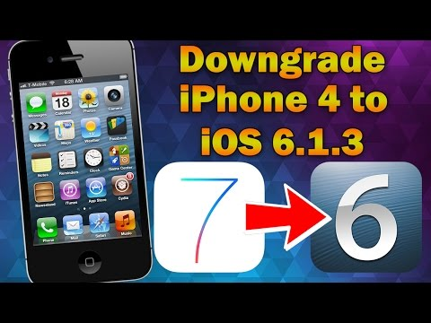 How to Downgrade iPhone 4 From iOS 7 to iOS 6.1.3 (Without SHSH Blobs)