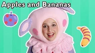 Apples and Bananas and More | COLORS AND FRUITS SONG | Nursery Rhymes from Mother Goose Club!