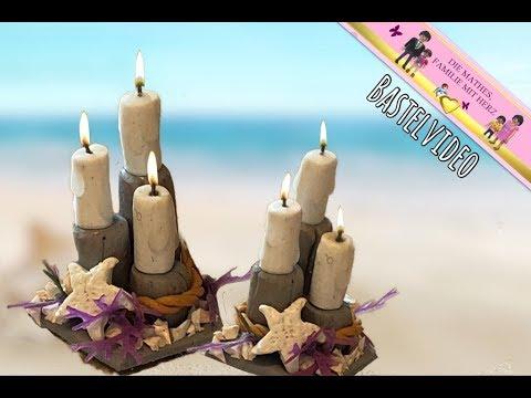 Maritime Badezimmer-Deko mit Kerzen und Seesternen - Deko für Playmobil  von Familie Mathes
