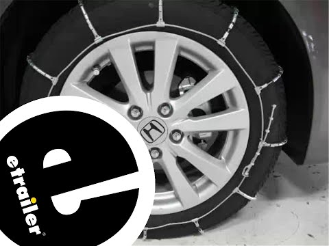 Review of the Glacier Cable Snow Tire Chains on a 2012 Honda Civic - etrailer.com