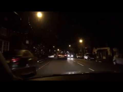 On the way - night - England