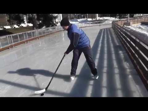 Первые упражнения для хоккеистов: Ведение шайбы, улитка