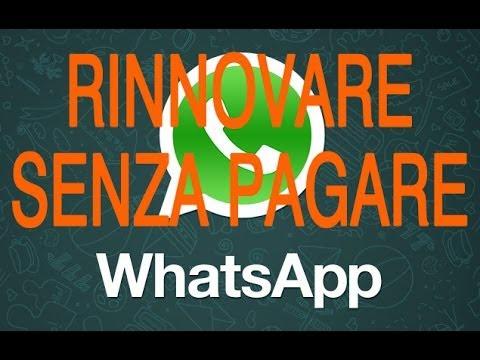 TUTORIAL Come rinnovare Whatsapp senza pagare GRATIS {Android IOS Windows Phone ecc. }