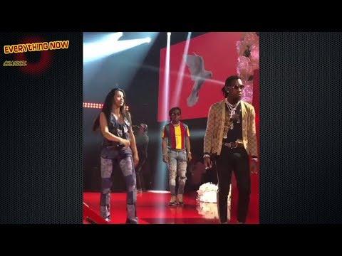 Cardi B Performs Bartier Cardi With 21 Savage And Migos.