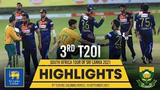 3rd T20I Highlights | Sri Lanka vs South Africa 2021