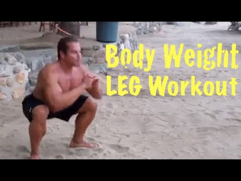 Jungle Muscle LEG WORKOUT Program *No Equipment Required*