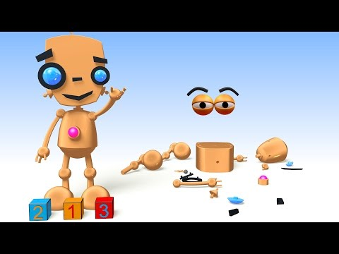 CUBE BUILDER for KIDS (HD) - Build a Toy Robot, Learn Counting - AApV