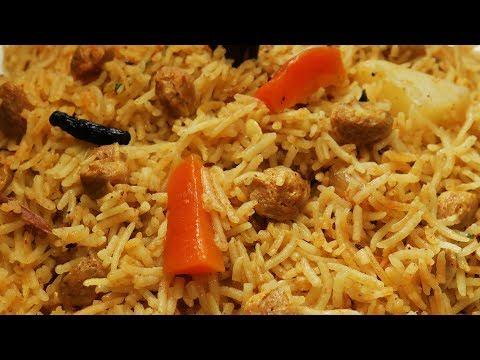 సొయాతో ఇలా పులావ్ చేయండి బిర్యానిలా సూపర్ టెస్ట్య్ గా ఉంటుంది  || Meal Maker Pulao In Telugu