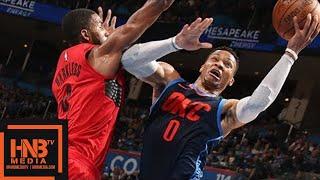 Oklahoma City Thunder vs Portland Trail Blazers Full Game Highlights / March 25 / 2017-18 NBA Season
